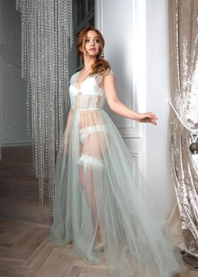 Будуарное платье «ICE-MENTOL»
