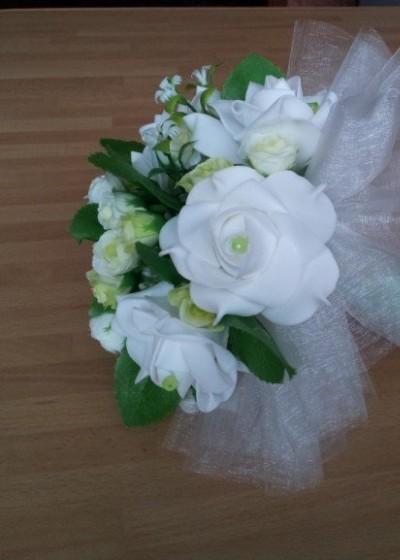 Букет свадебный розы малый