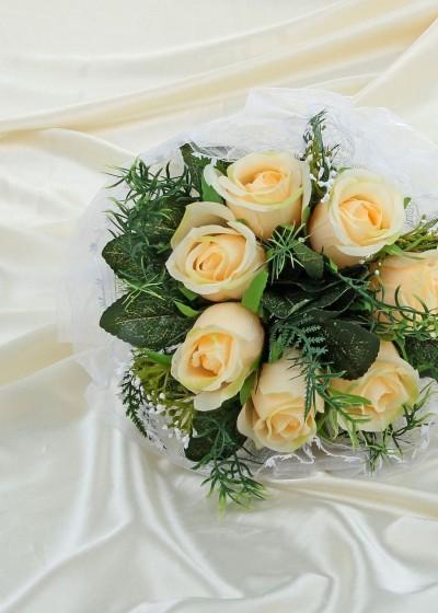 Букет свадебный желтые розы