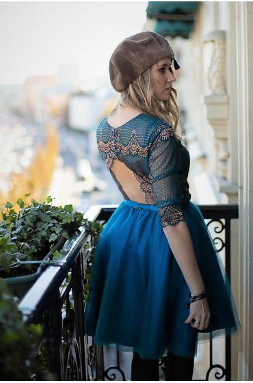 Ультрамарин короткое платье