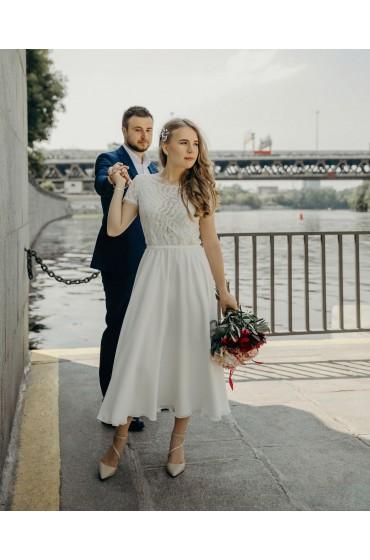 Свадебное платье НИКОЛЕТ (миди)