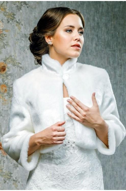 Свадебная шубка Глория (с воротником)