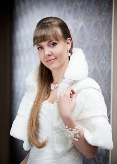 Свадебная накидка с воротничком