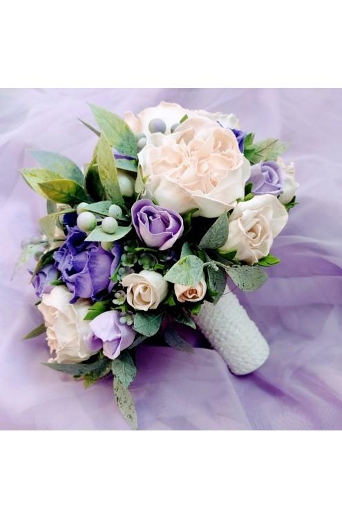 Букет свадебный розы микс