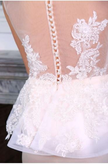 Свадебное платье «КОМПЛЕКТ (болеро+мини юбочка) »